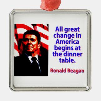 アメリカ-ロナルド・レーガンのすべての素晴らしい変更 メタルオーナメント