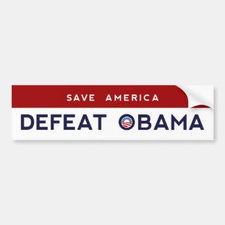 アメリカ-敗北のオバマのバンパーステッカー--を救って下さい バンパーステッカー