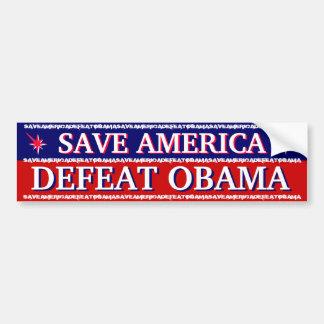 アメリカ-敗北オバマ--を救って下さい バンパーステッカー