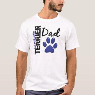 アメリカ(犬)スタッフォードテリアのパパ2 Tシャツ