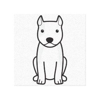 アメリカ(犬)スタッフォードテリア犬の漫画 キャンバスプリント
