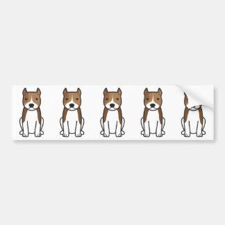 アメリカ(犬)スタッフォードテリア犬の漫画 バンパーステッカー