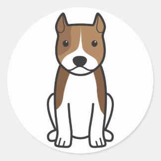 アメリカ(犬)スタッフォードテリア犬の漫画 ラウンドシール