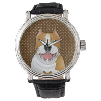 アメリカ(犬)スタッフォードテリア(Amstaff) 腕時計