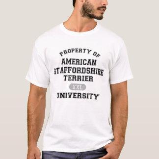 アメリカ(犬)スタッフォードテリアUniversの特性 Tシャツ