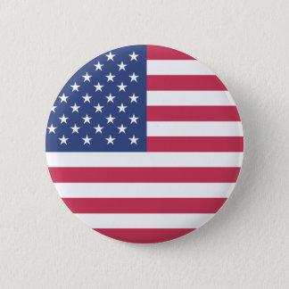 アメリカ。 米国の旗 缶バッジ
