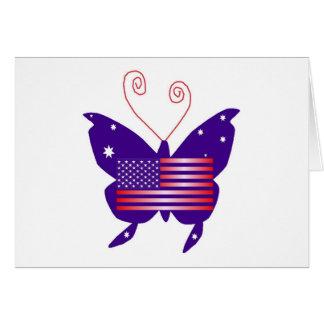 アメリカ 花型女性歌手 蝶 グリーティングカード