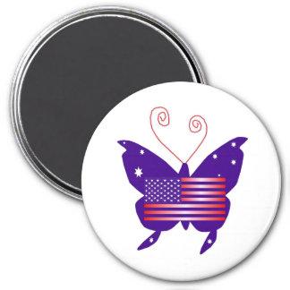 アメリカ 花型女性歌手 蝶 冷蔵庫用マグネット