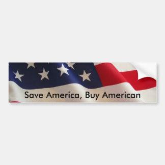 アメリカ、買物のアメリカ人を救って下さい バンパーステッカー