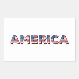 アメリカ 長方形シール