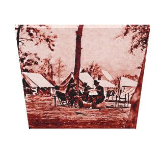 アメリカ- 1857年の最初内戦のカメラマン キャンバスプリント