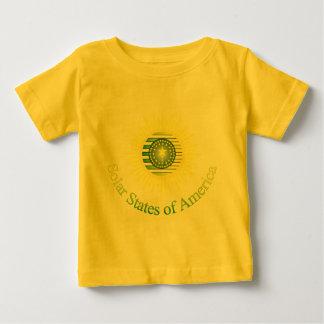 アメリカ(1color)のT29aの太陽のな州 ベビーTシャツ