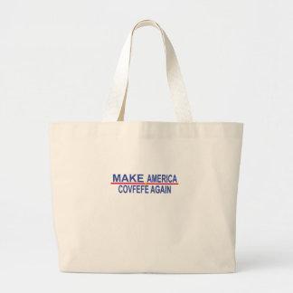 アメリカCovfefeのTシャツを再度作って下さい。 ラージトートバッグ