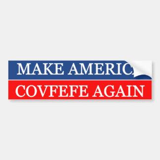 アメリカCovfefeを再度作って下さい バンパーステッカー