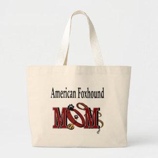 アメリカfoxhoundのお母さんのトートバック ラージトートバッグ