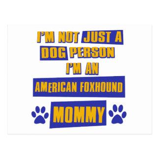 アメリカfoxhoundのお母さん ポストカード