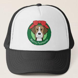 アメリカFoxhoundのクリスマス キャップ