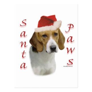 アメリカFoxhoundのサンタの足 ポストカード