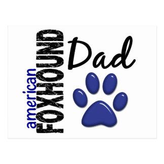 アメリカFoxhoundのパパ2 ポストカード