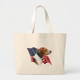 アメリカFoxhoundの旗 ラージトートバッグ