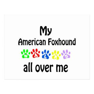 アメリカFoxhoundの歩行のデザイン ポストカード