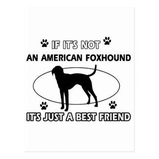 アメリカFOXHOUNDの親友のデザイン ポストカード