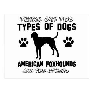 アメリカFoxhound犬のデザイン ポストカード