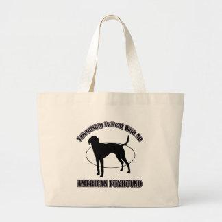 アメリカFOXHOUND犬のデザイン ラージトートバッグ