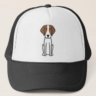 アメリカFoxhound犬の漫画 キャップ
