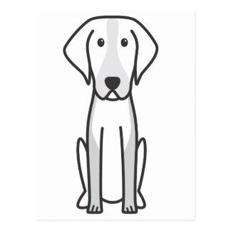 アメリカFoxhound犬の漫画 ポストカード