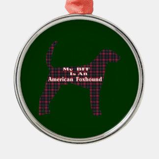 アメリカFoxhound BFF メタルオーナメント