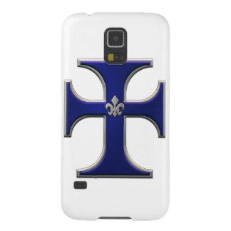 アヤメ-青が付いている十字 GALAXY S5 ケース