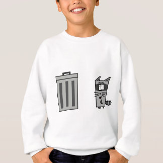 アライグマおよびTrashcan スウェットシャツ
