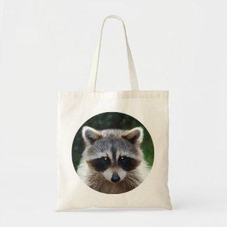 アライグマのあらいぐまの野生動物の野性生物のバッグ トートバッグ