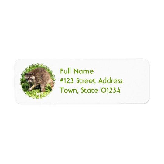 アライグマの差出人住所の郵送物のラベル ラベル