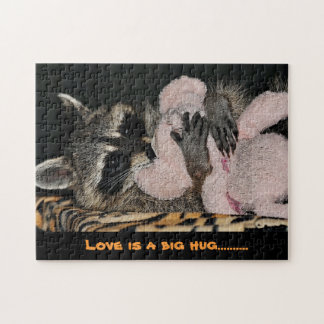 アライグマの抱擁パズル ジグソーパズル