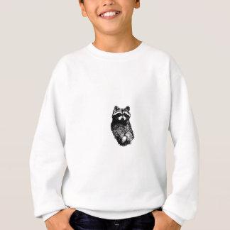 アライグマの線画のロゴ スウェットシャツ