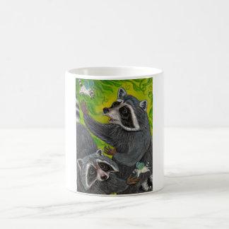 アライグマのFlutterbysのマグ コーヒーマグカップ