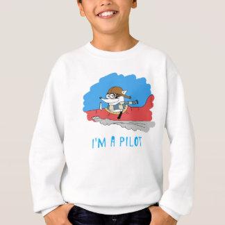 アライグマ: 私はパイロットです スウェットシャツ
