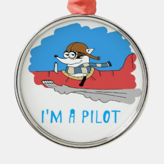 アライグマ: 私はパイロットです メタルオーナメント