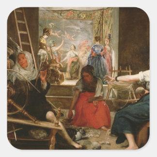 アラクネーの寓話、か紡績工、c.1657 (油 スクエアシール
