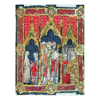 アラゴンおよびCastilleの王の即位 ポストカード
