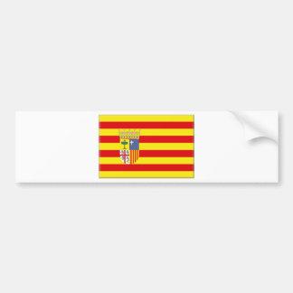 アラゴン(スペイン)旗 バンパーステッカー