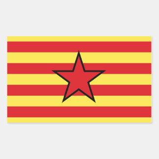 アラゴンEstrelada旗のステッカー 長方形シール