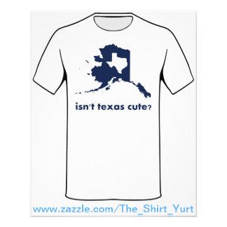アラスカと比較されるテキサス州のかわいいありません チラシ