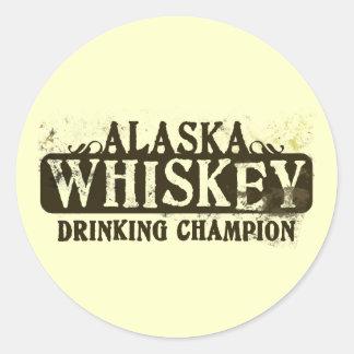 アラスカのウィスキーの飲むチャンピオン ラウンドシール