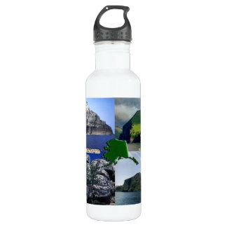 アラスカのコラージュの石の景色 ウォーターボトル