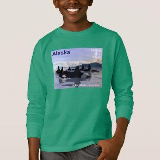 アラスカのシャチのスタンプ Tシャツ