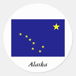 アラスカのステッカー ラウンドシール