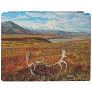 アラスカのツンドラのカリブーの(雄ジカの)枝角 iPadスマートカバー
